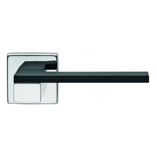 dual finish esa dnd lever on square rose contemporary lever door handles