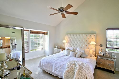 ,: Tumblers, Four-Post, Tufted Headboards, White Linens, Bedrooms Idea, Mercury
