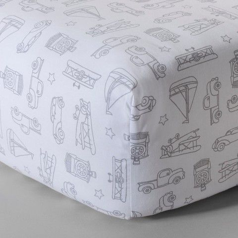 Circo® Woven Fitted Crib Sheet - Vintage on the Go