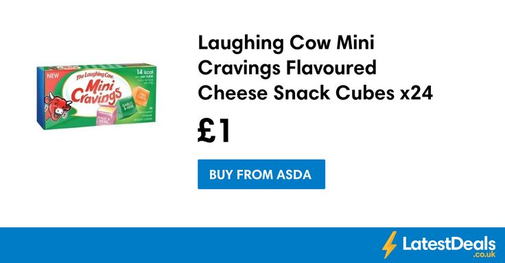 Laughing Cow Mini Cravings Flavoured Cheese Snack Cubes x24, £1 at ASDA