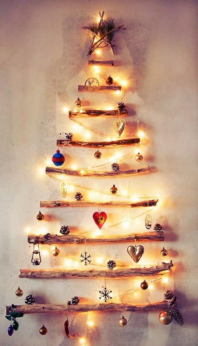 Arquivo da Loris: Árvores de Natal feita com gravetos