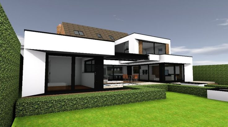 Contemporary extension rear view 3
