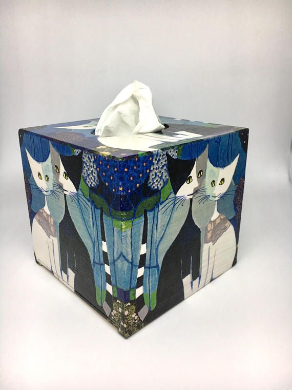 Cats tissue box cover kleenex box holder Wachtmeister cats