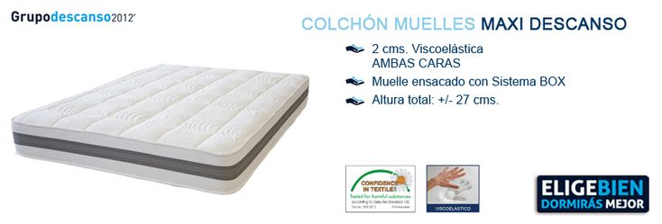 Colchón de muelles MAXI DESCANSO - http://colchonesvisco.net/colchones/colchones-muelles/colchon-muelles-maxi-descanso/