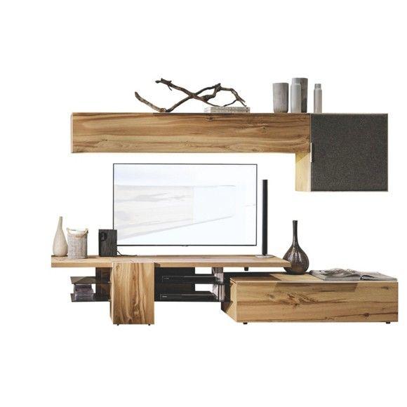 Moderne und charmante Wohnwand von VOGLAUER aus schönem Eichenholz