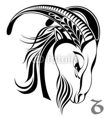 Tatouage signe astrologique horoscope capricorne