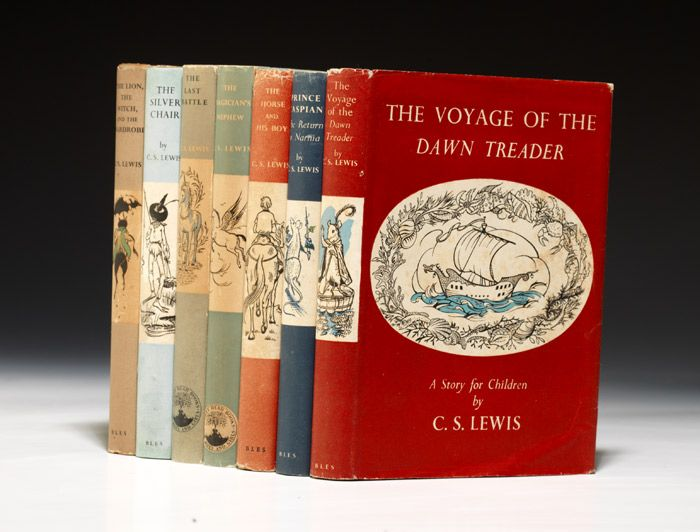 C.S. Lewis -  Chronicles of Narnia, first edition. @.@ LOVE. Only $49,000 for the whole set! :P *dies*
