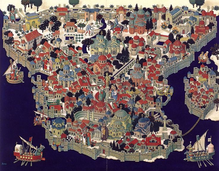 map ofConstantinople