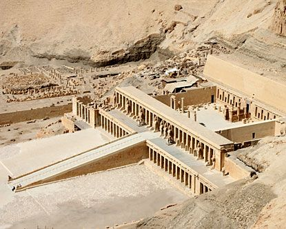 Valley of Kings, Egypt. Queen Hatshepsut's mortuary temple. See how big it is? I've been there twice. In 2008 (in a group) then by myself, May 2012. I felt drawn to go there again the 2nd time. Like a sort of pilgrimage. Ivonne Teoh.