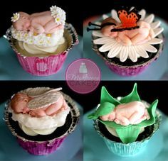 Anne Geddes Inspired Baby Toppers - by Shawna @ CakesDecor.com - cake decorating website