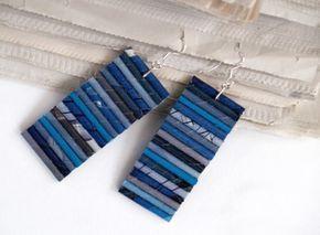 BluReco: Kolczyki z papieru *** Paper earrings