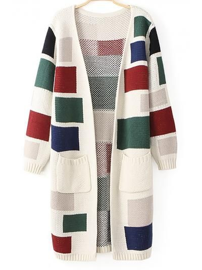 Shop White Checkered Contrast Color Zipper Cardigan Long Section Of Sweaters online. TrendyFine offers White Checkered Contrast Color Zipper Cardigan Long Section Of Sweaters & more to fit your fashionable needs. Free Shipping Worldwide!