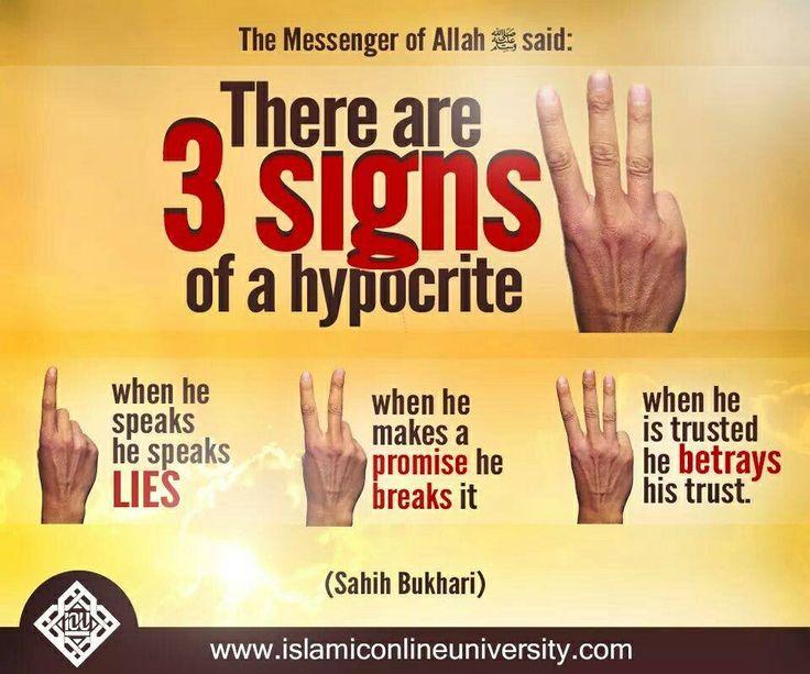 Hypocrisy in islam