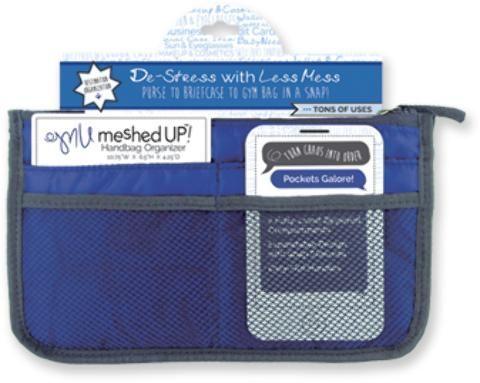 Wholesale Meshed Up Handbag Organizer - Blue (Case of 20)