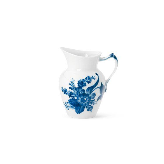 Blå Blomst Svejfet - Flødekande 16 cl