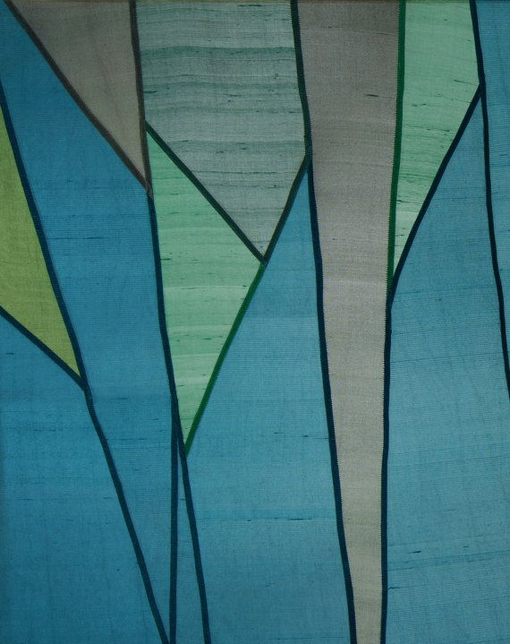 Abstract forest design Sheer window shade/ covering