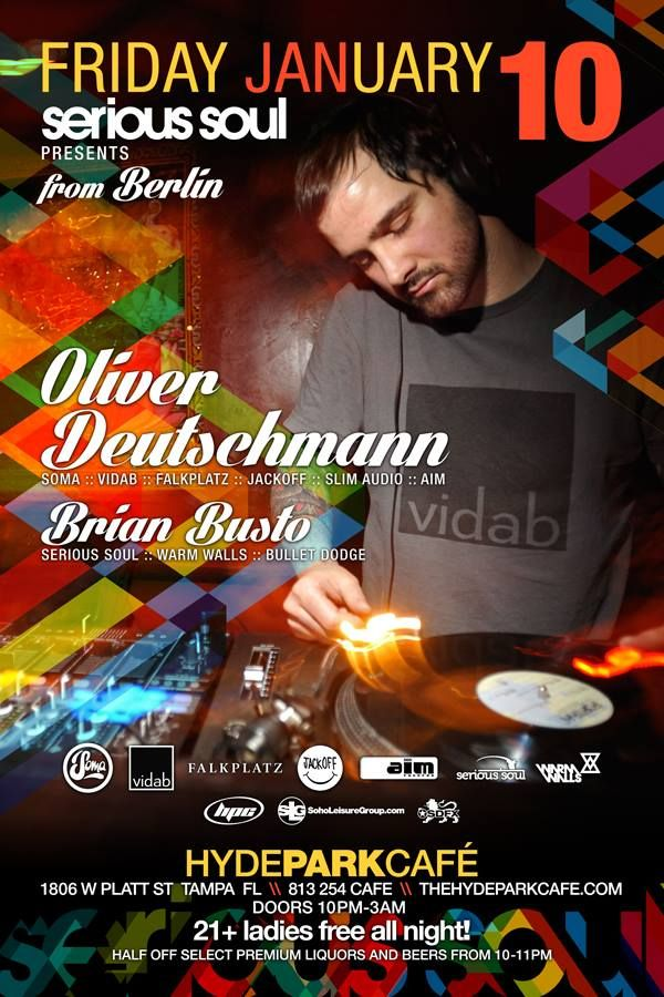 10 January 2014: Oliver Deutschmann from Berlin @ Hyde Park Café [Tampa] - Also ft music by Brian Busto!