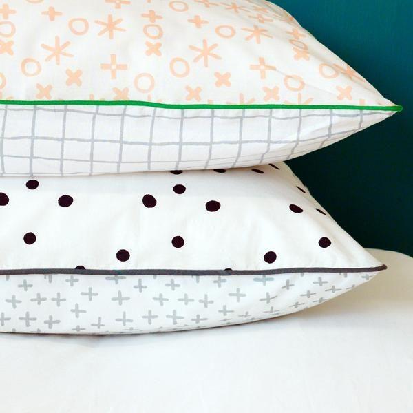 dot spot cross pillowcase