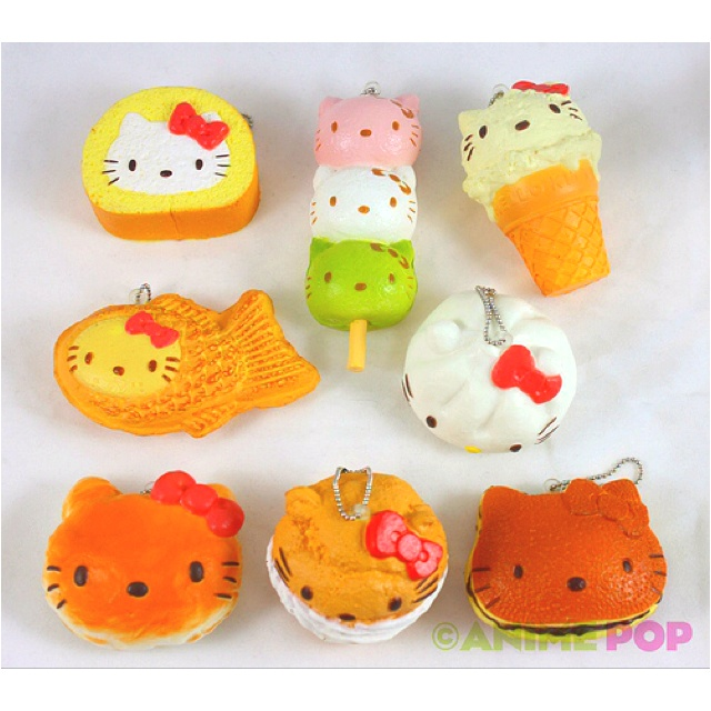 Hello kitty food squishies charmy pinterest japanese for Cuisine hello kitty