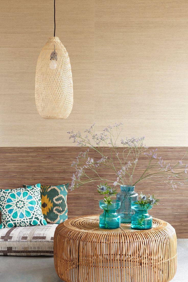 Eijffinger behang Natural Wallcoverings - bruin, naturel http://cdinterieurs-instyle.nl/