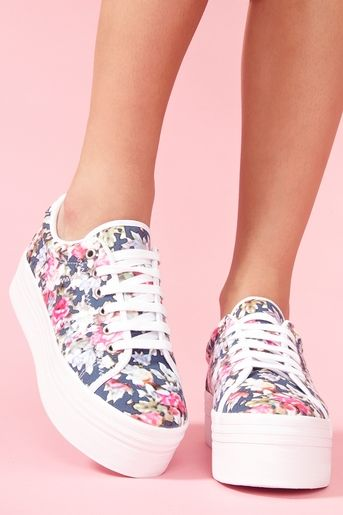 Zomg Platform Sneaker - Floral...if these are coming back I will be so thrilled because I'm so short!