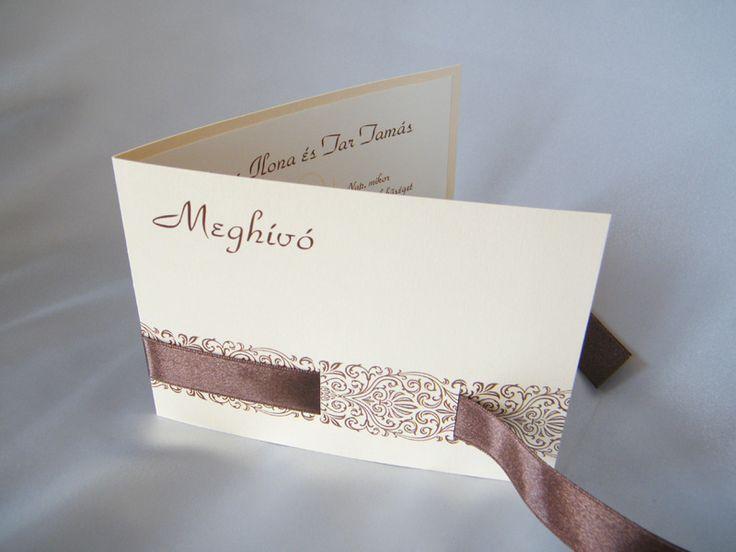 szalagos esküvői meghívó 030.01