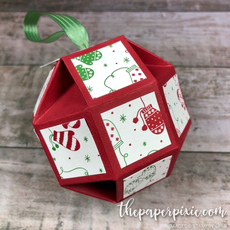 Today's project is a faceted Christmas ornament that I demonstrated during last night's Weekly Wednesday Facebook Live! Here's a closer look: This features the Be Merry Designer Series Paper and looks much harder than it is to make! I followed Samantha Clayton's tutorial (Mixed Up Craft) – love her projects! Here's my shorted Facebook Live…