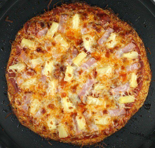 Cauliflower Crust Hawaiian Pizza #RecipeGirl