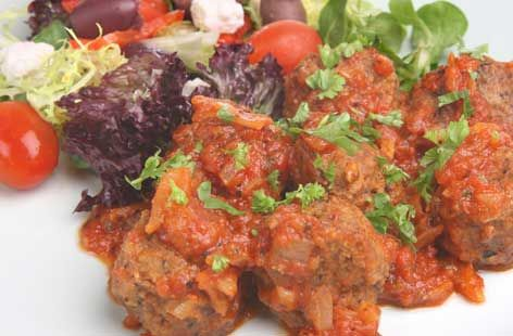 A simple Soutzoukakia (Greek meatballs) recipe for you to cook a great meal for family or friends. Buy the ingredients for our Soutzoukakia (Greek meatballs) recipe from Tesco today.