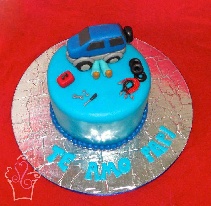 Queque para un mecánico -- Cake for a mechanic #cake #cakes #mechanic #fondant