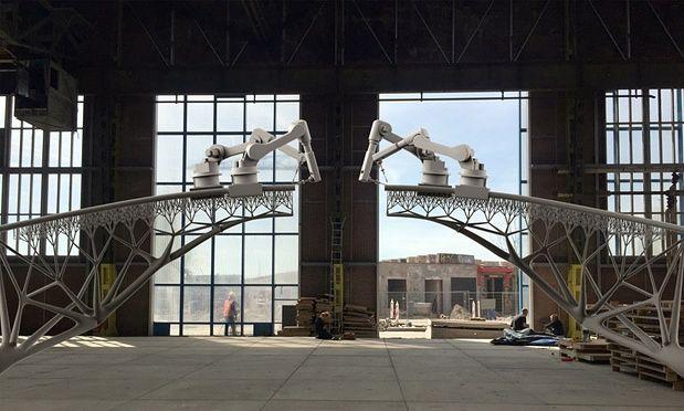 Dutch Company plans to 3D-Print a Metal Bridge in Amsterdam. http://www.newsweek.com/dutch-company-plans-3d-print-metal-bridge-amsterdam-343599?utm_content=buffer5298b&utm_medium=social&utm_source=pinterest.com&utm_campaign=buffer #3dprinting   #amsterdam