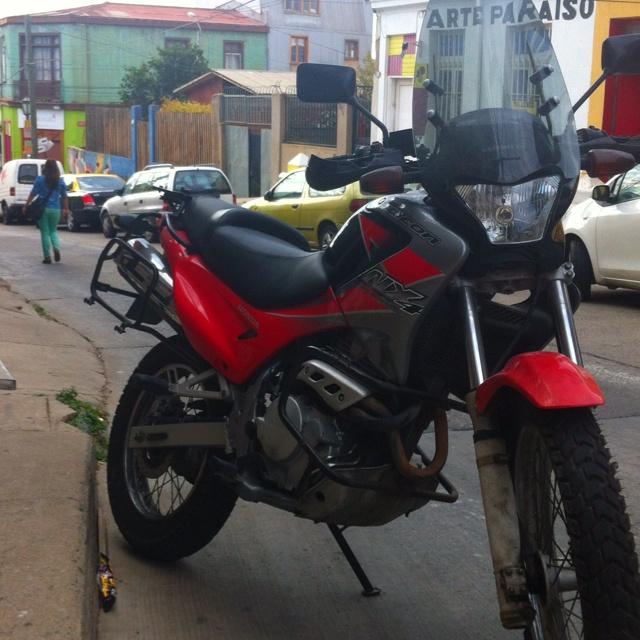 My Honda Falcon 400cc. Great for Valparaiso. Light enough and strong enough to move around the hills.