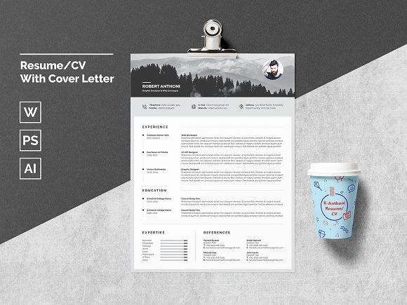 Resume/CV With Cover Letter  @Graphicsauthor