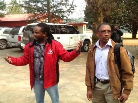 Race Director Les Moeti #MandelaMarathon with Celi Makhoba, head KZNA Technical, pre-route tour