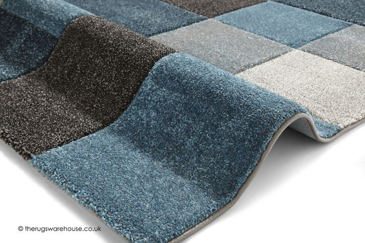 NEW: Nordia Blue Grey Rug (texture close up), a grey, charcoal & blue geometric pattern modern synthetic rug (machine-woven, polypropylene, 2 sizes) http://www.therugswarehouse.co.uk/modern-rugs3/brooklyn-pembroke-rugs/nordia-blue-grey-rug.html