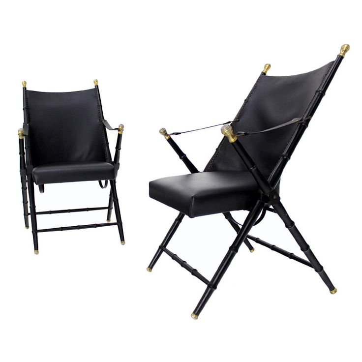 Pair Of Faux Bamboo French Folding Arm Lounge Chairs. Folding ChairsTracy  PorterFaux ...