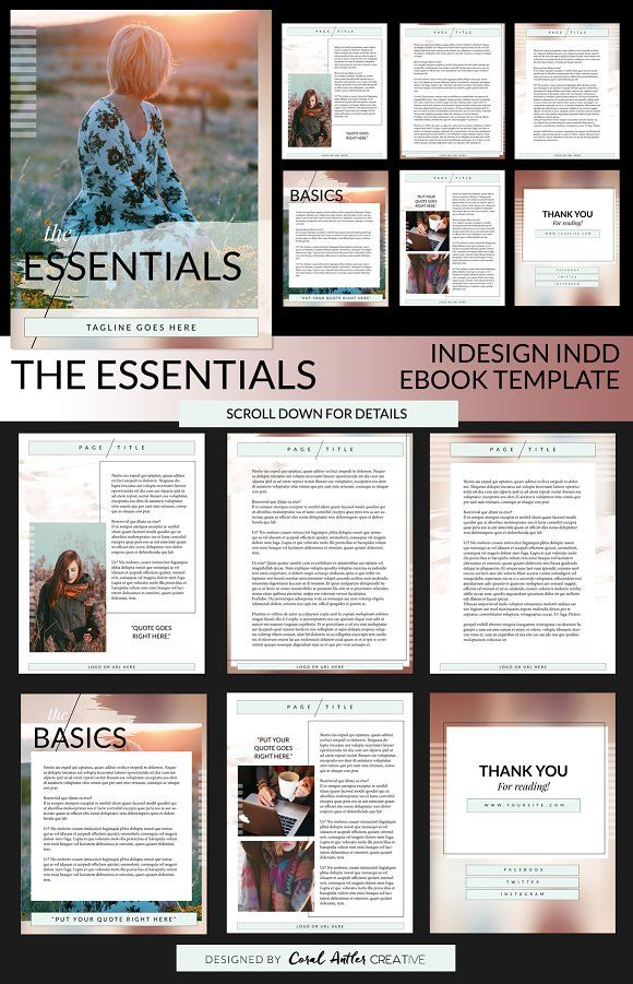 The Essentials INDD Ebook Template by Coral Antler Creative on ...