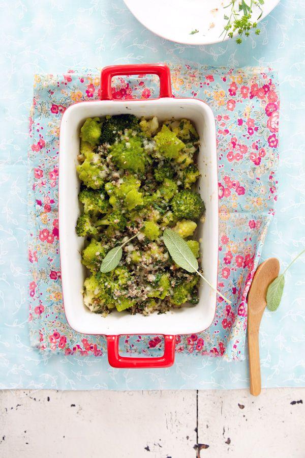Romanesco and broccoli gratin (gluten free)