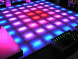 LED Dance Floor - Video Dance Floor and Interactive LED Dance Floor with Sound and Touch Sensitive Mode
