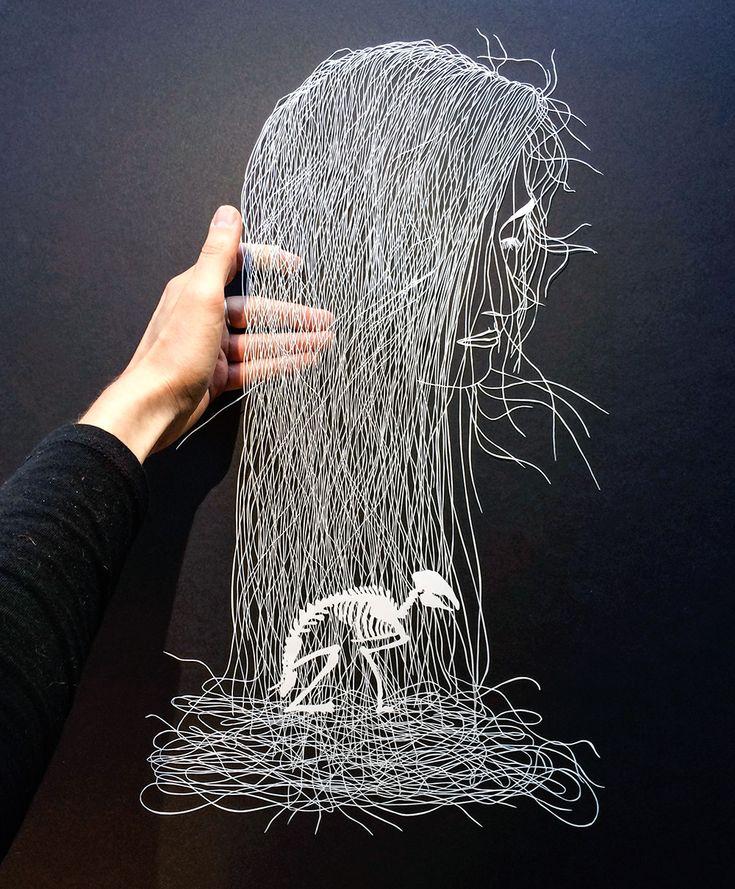 Maude White's Dainty Paper-Cut Art