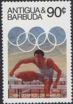 Stamp: Hurdling (Antigua and Barbuda) (1984 Olympic Games) Mi:AG 753,Sn:AG 742,Sg:AG 827