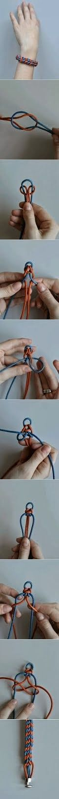 This might be a tutorial on how to make a bracelet, but every time it gets posted, all I can see is a dead hand...