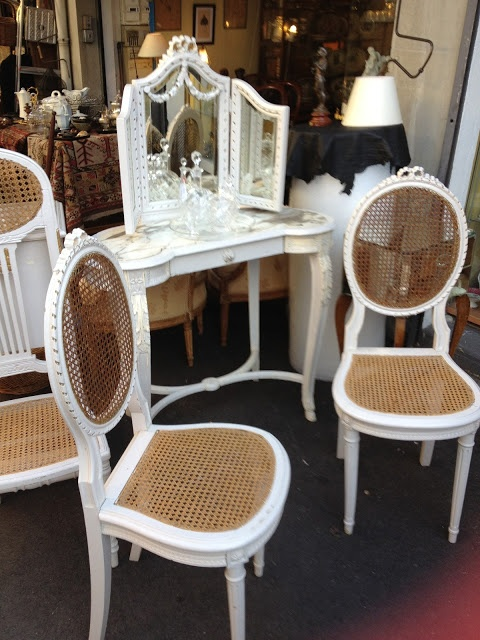 Paris Flea Market   French Dressing Table U0026 Chairs. #Home #Decor ༺༺