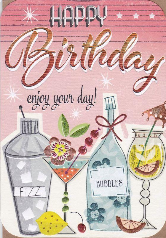 Birthday Cocktails Birthday Card Happy birthday cards