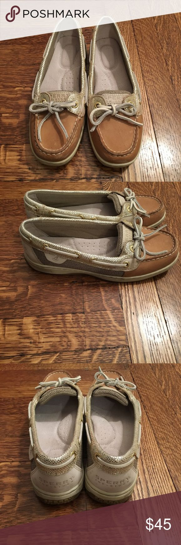 Sperry Angelfish Boat Shoes Metallic boat shoes.  Like New!! Only worn once.  Size 6 Sperry Top-Sider Shoes Flats & Loafers
