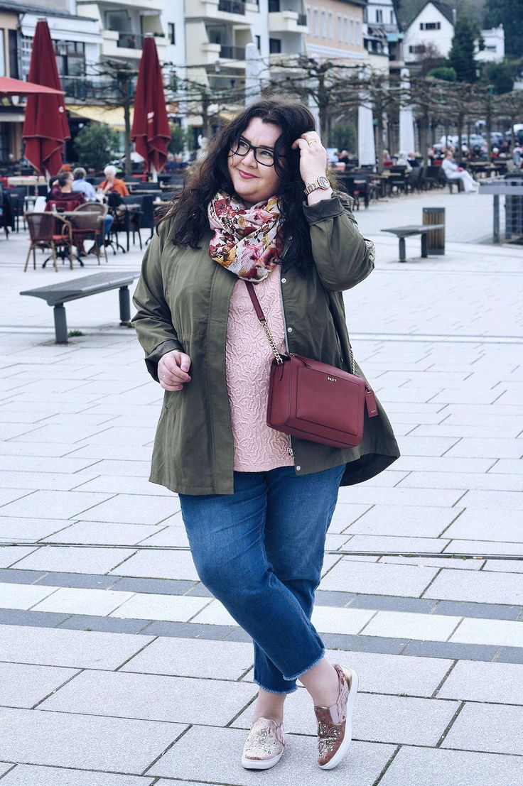 große größen plus size fashion blog - khaki parka (kik