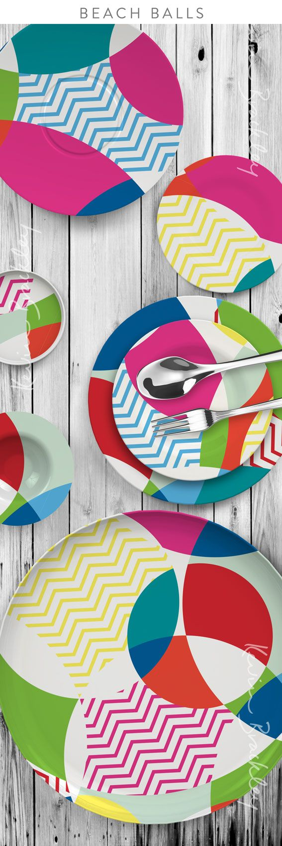 Home decor plates and bowls concept in my Beach Balls design