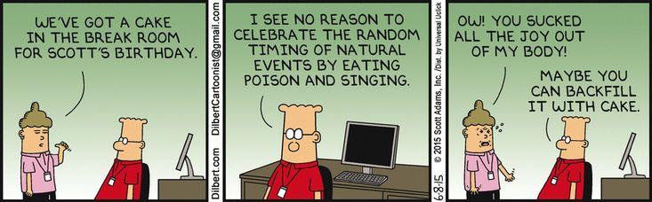 Dilbert Birthday Cake
