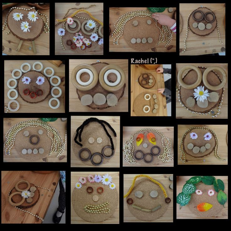 Transient Art Faces at the Discovery Table (from Stimulating Learning With Rachel):