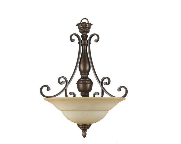 Hampton Bay 15672 Carina 3 Light Aged Bronze Pendant